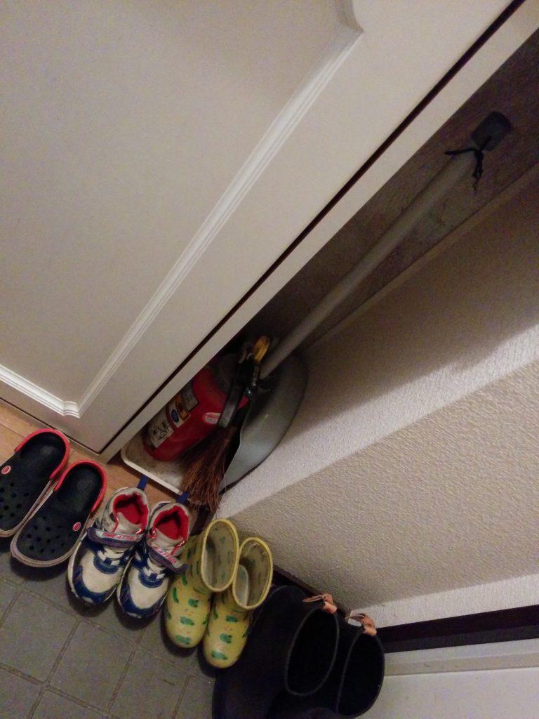 子供の靴が玄関に並んでいたのでどうにかしたい