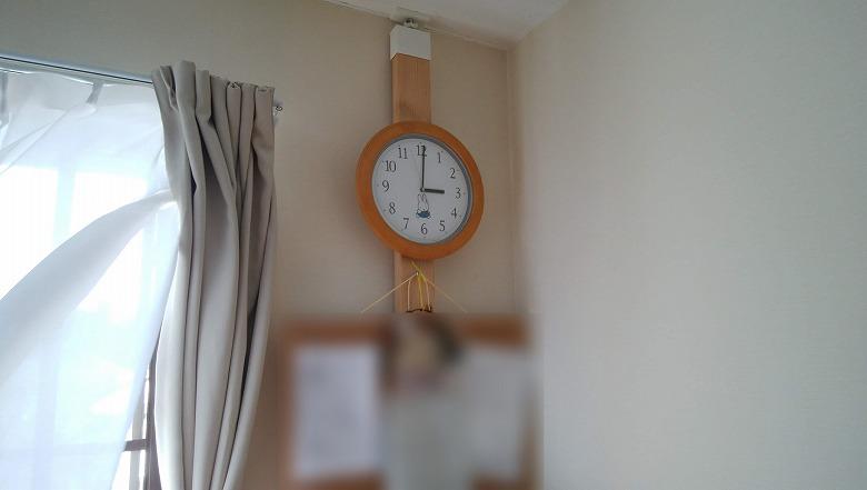 時計とコルクボードを取り付けてみました